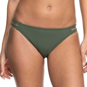 Roxy Goldy Sandy Full Bikini Bottoms Small